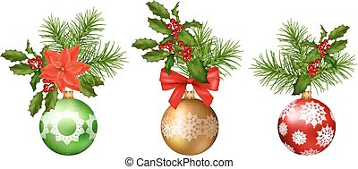 Christmas Vector Decorations - Christmas and New year vector...
