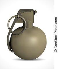 Grenade - high explosive - terror concept