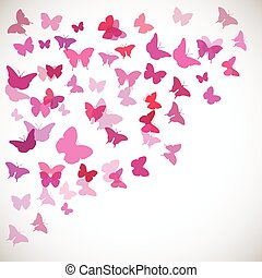 Abstract Butterfly Background. Vector illustration of pink...