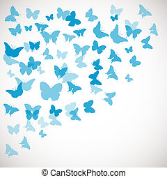Abstract Butterfly Background illustration of blue...
