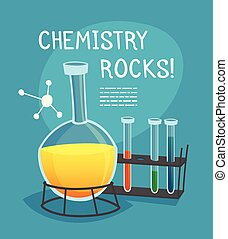 Chemical Laboratory Cartoon Concept - Chemical laboratory...