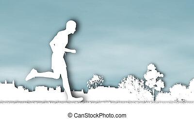 Jogger cutout