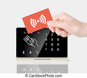 Access control - Proximity card and reader
