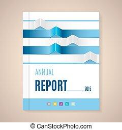 anual, relatório, Cover, ,