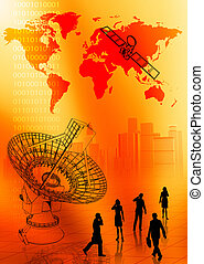 Global Communication concept - Worldwide Global...
