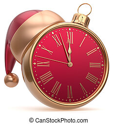 New Years Eve alarm clock bauble Christmas ball decoration...