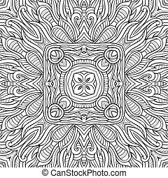 Abstract decorative nature ethnic hand drawn pattern -...
