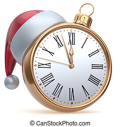 New Years Eve time alarm clock midnight hour countdown Santa...