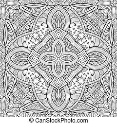 Abstract vector decorative nature ethnic hand drawn pattern...