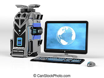 Powerful Computer Setup - information, technology, system,...