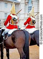 in england horse and cavalry for the queen - in london...