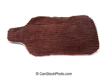 hot water bottle - a hot water bottle with a corduroy cover