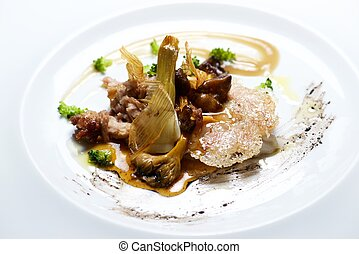Lamb tapa - Lamb with grilled with vegetables