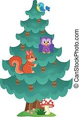 Coniferous tree theme image 2 - eps10 vector illustration.