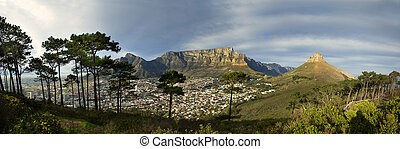 Table Mountain from Signal Hill - Panoramic view from Signal...