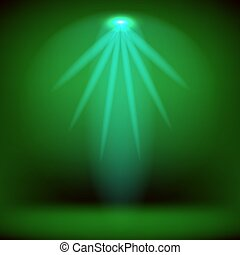 Stage Spotlight Background - Spotlight Isolated on Green...