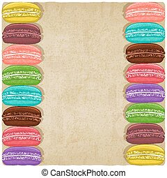 macaroon old background