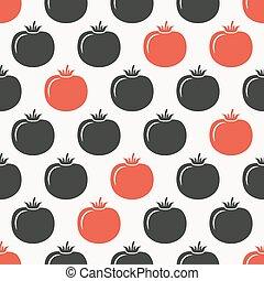tomatoes seamless pattern.