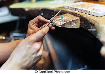 Jeweler working - Jeweler creating jewelry