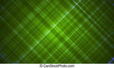 Broadcast Intersecting Hi-Tech Slant Lines, Green, Abstract, Loopable, HD
