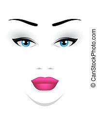 Makeup Face Clip Art
