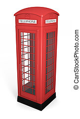 British phone booth - Traditional red british phonebooth...