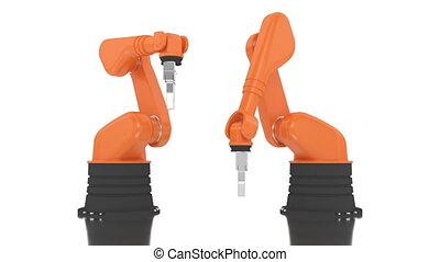 Industrial robotic arm building 201