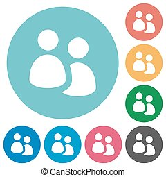Flat user group icons