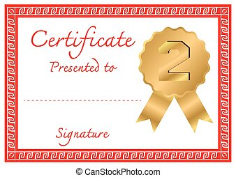Vector certificate template - Classical vector certificate...
