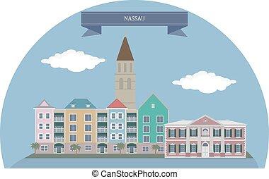 Nassau, Bahamas - Nassau Capital, largest city, and...