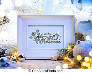 decoração, arte, Natal
