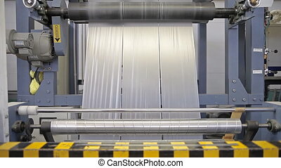 Equipment on a factory - Video shows a factory, producing...