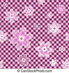 Seamless gentle floral pattern