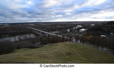 Bridge in Vladimir, Russia. View from the highest point of...