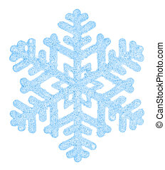 Beautiful blue snowflake isolated on a white background...