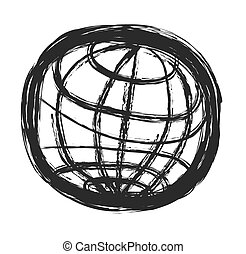 doodle symbol of planet earth