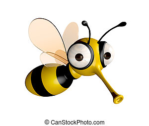 funny bee - three dimensional funny bee