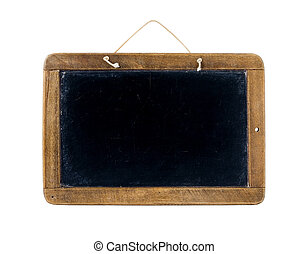 School black board - Old Time Slate Writing Tablet isolated...