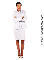 african business woman with arms folded