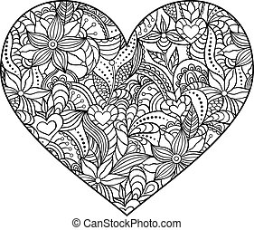 abstract heart on white background. - Vector illustration of...