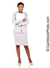 african business woman with laptop computer
