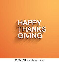 Happy Thanksgiving Day Holiday Vector Illustration With Long...