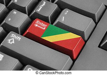 Enter button with Congo Republic Flag