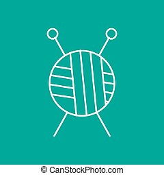 Vector outline icon - Vector outline tailor ravel ball of...