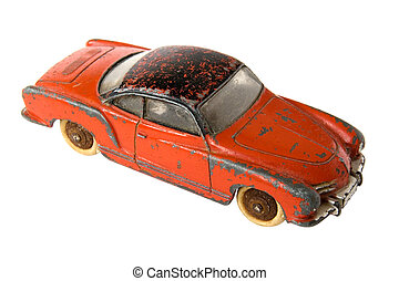 Car toy - Old rusty car toy