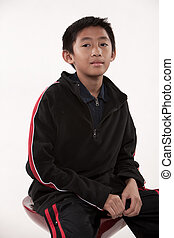 Young cute pre-teen asian boy - Young cute asian boy in his...