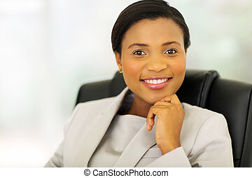 african american business executive - attractive african...