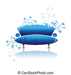 Blue sofa design