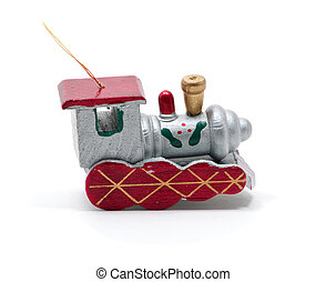 Isolated toy train