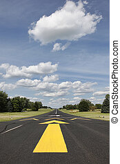 Rural runway in Southern Wisconsin - Vertical of rural...